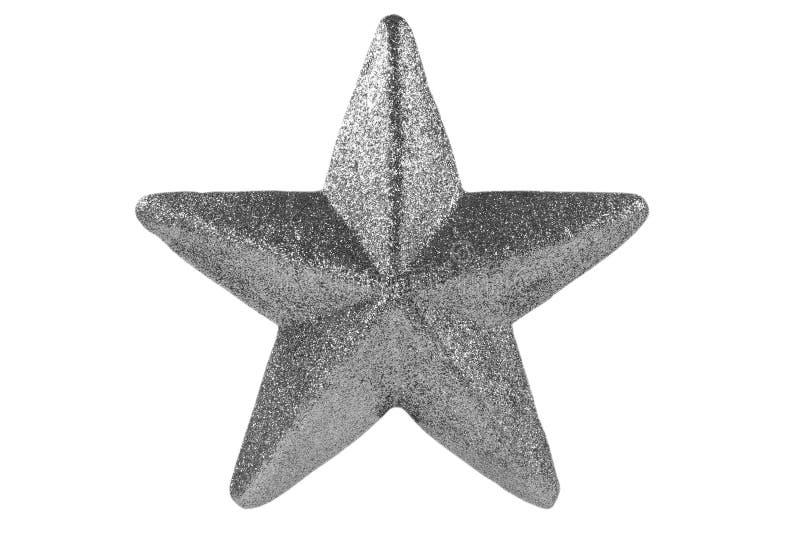 Stella d'argento di natale fotografie stock