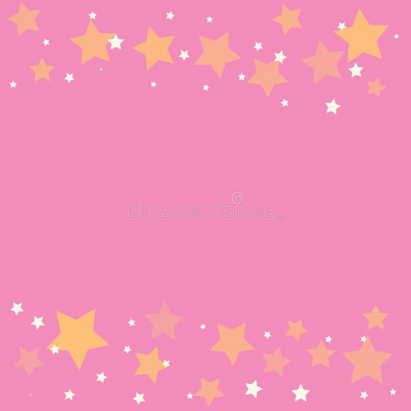 Stella d'oro astratta su fondo rosa illustrazione di stock