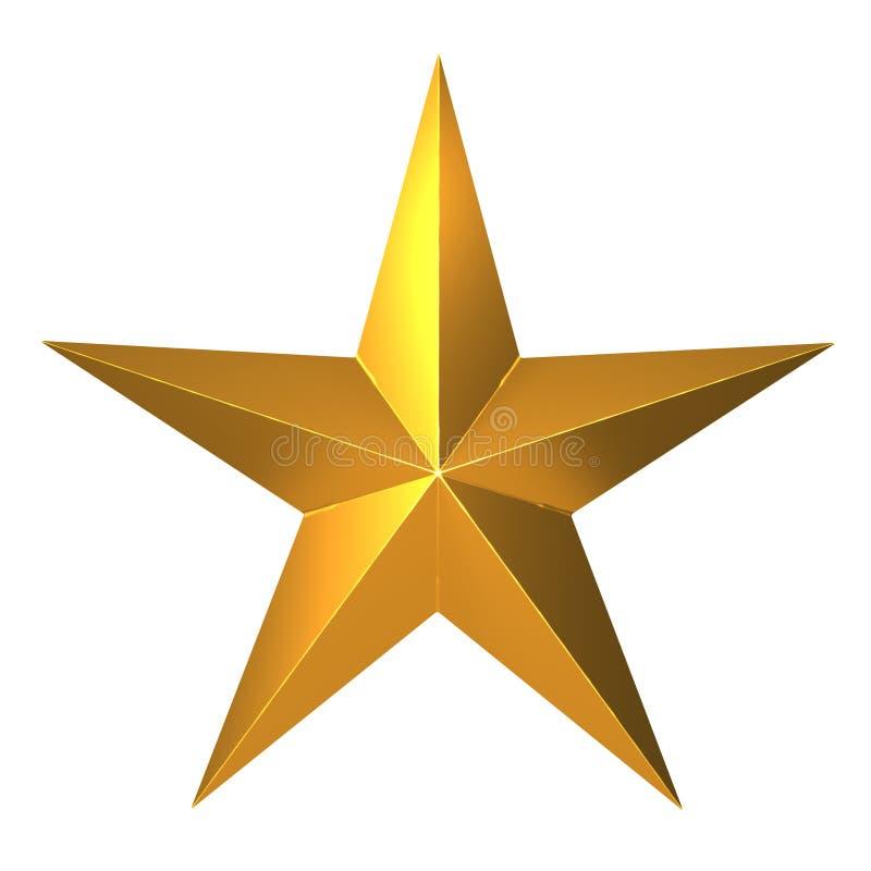 stella d'oro 3d illustrazione vettoriale
