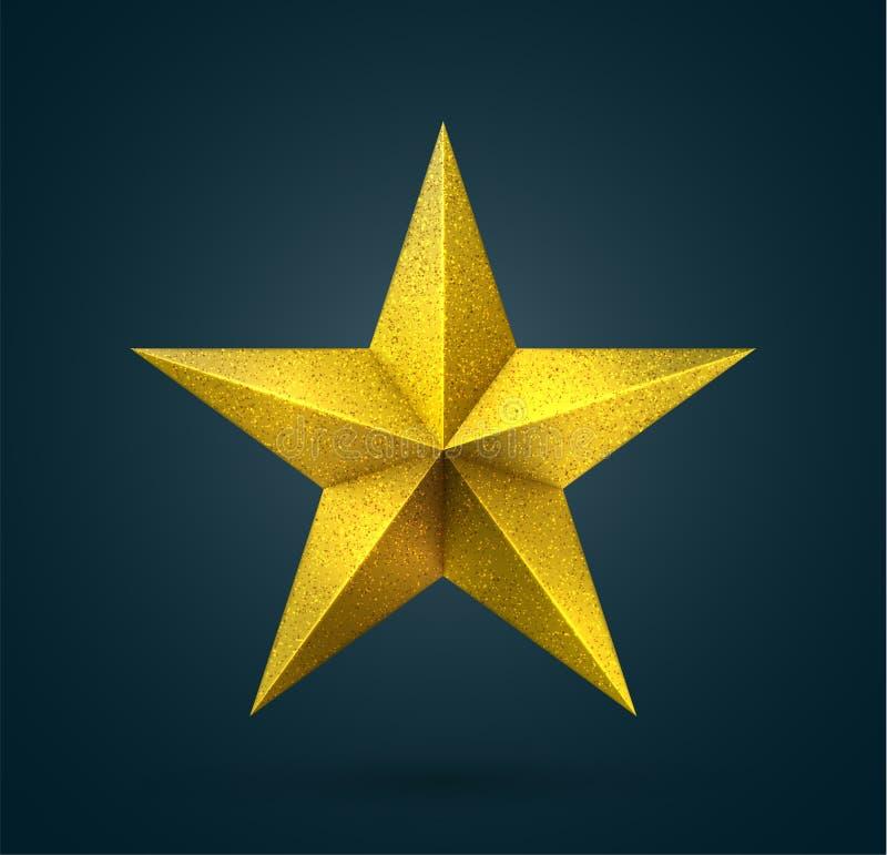 Stella d'oro del premio illustrazione vettoriale
