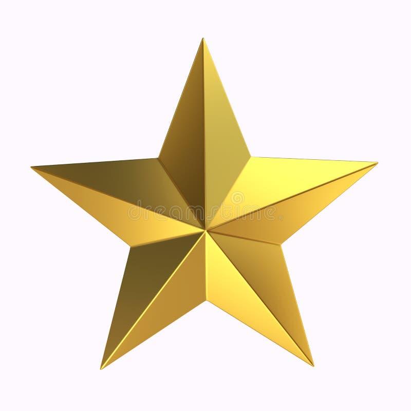 stella d'oro della rappresentazione 3D royalty illustrazione gratis