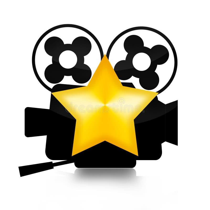 Stella del cinema illustrazione vettoriale