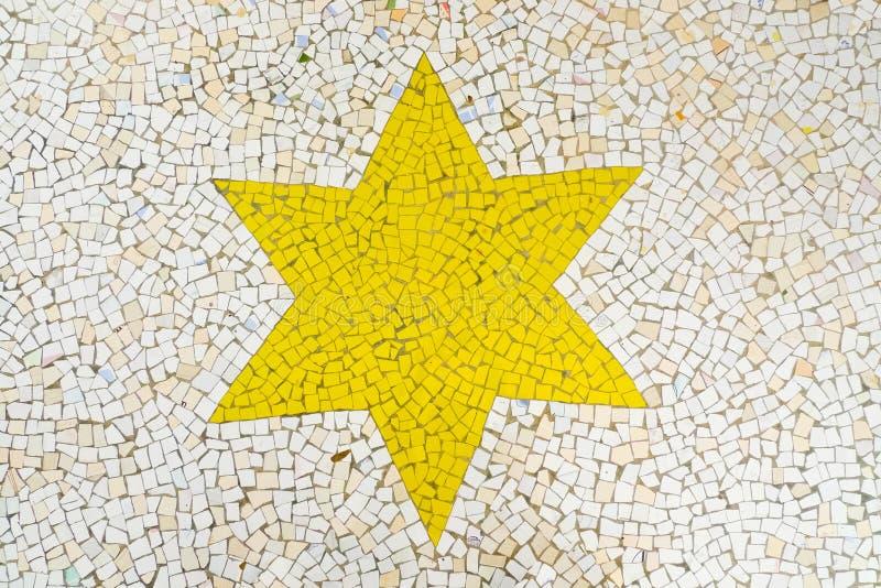 Stella del mosaico fotografie stock libere da diritti