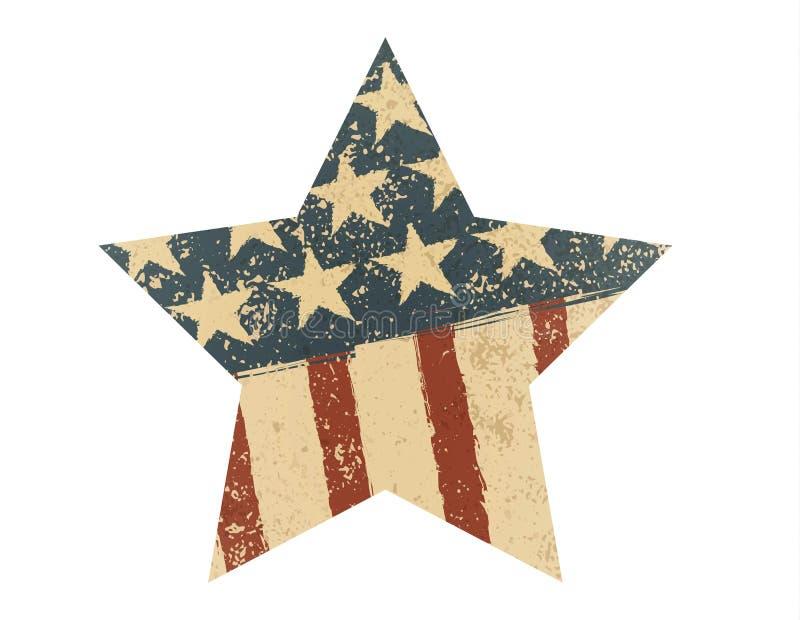 Stella della bandiera americana di lerciume Illustrazione di vettore royalty illustrazione gratis