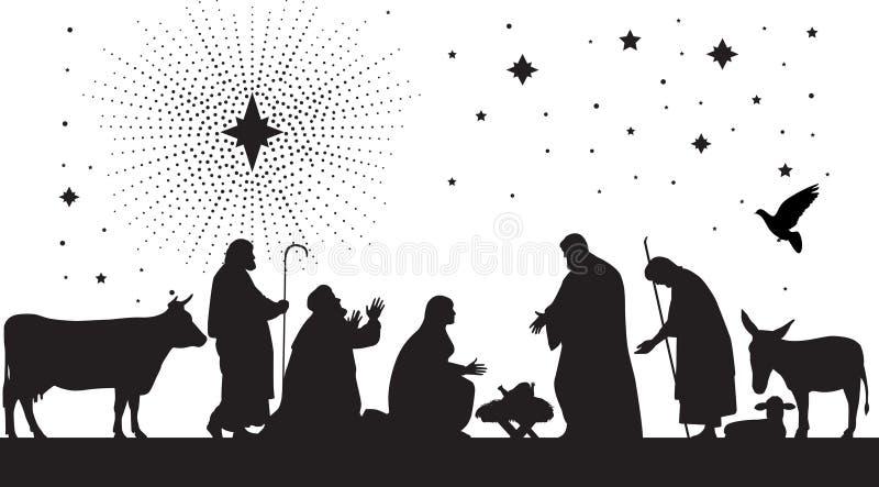 Stella di Bethlehem. illustrazione di stock
