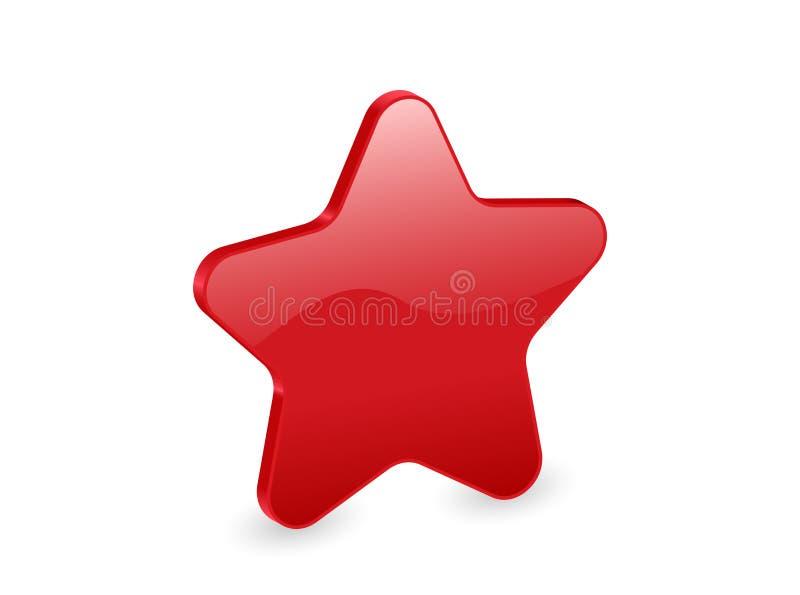 stella di colore rosso 3d illustrazione di stock