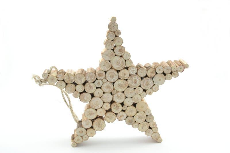 Stella di legno immagini stock