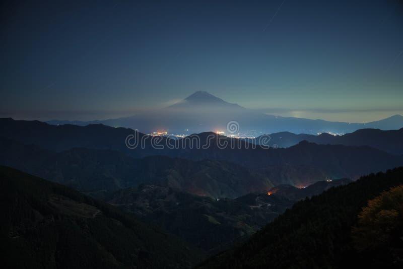 Stella di notte di Fuji fotografia stock