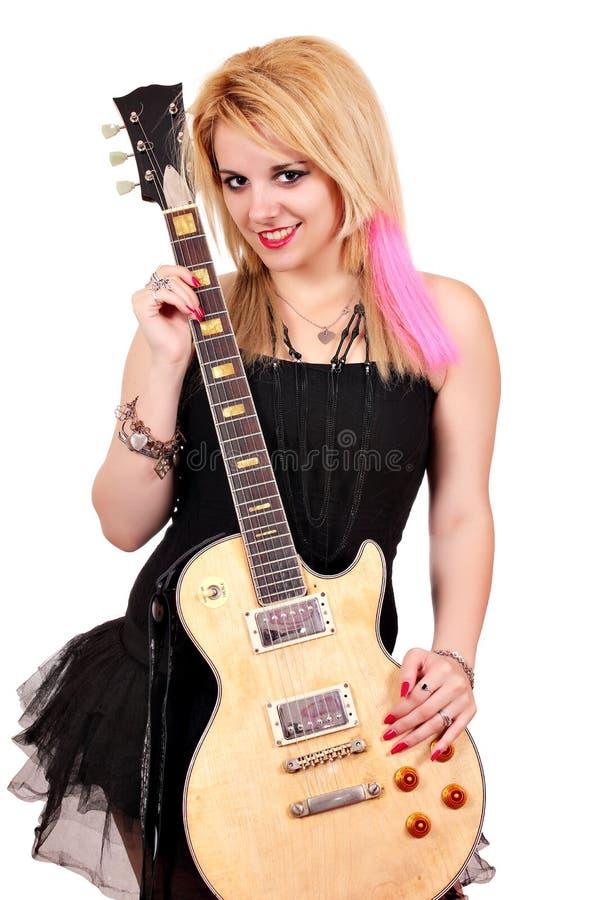 Stella di rock-and-roll dell'adolescente immagine stock libera da diritti