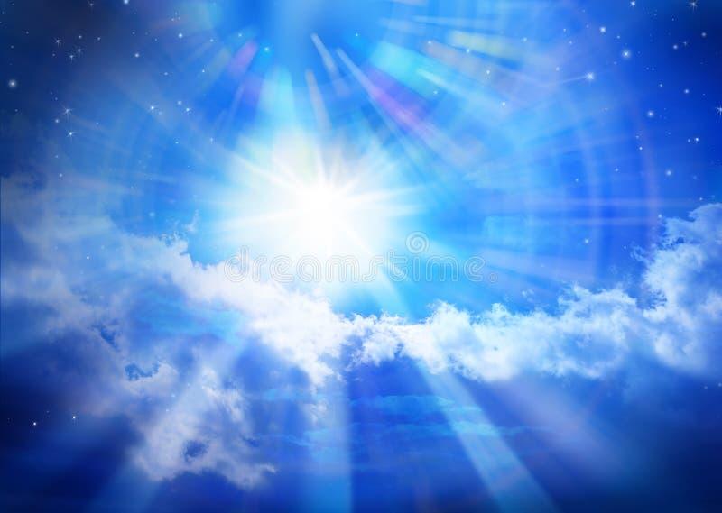 Stella di Sun dell'universo del cielo di cielo immagine stock libera da diritti