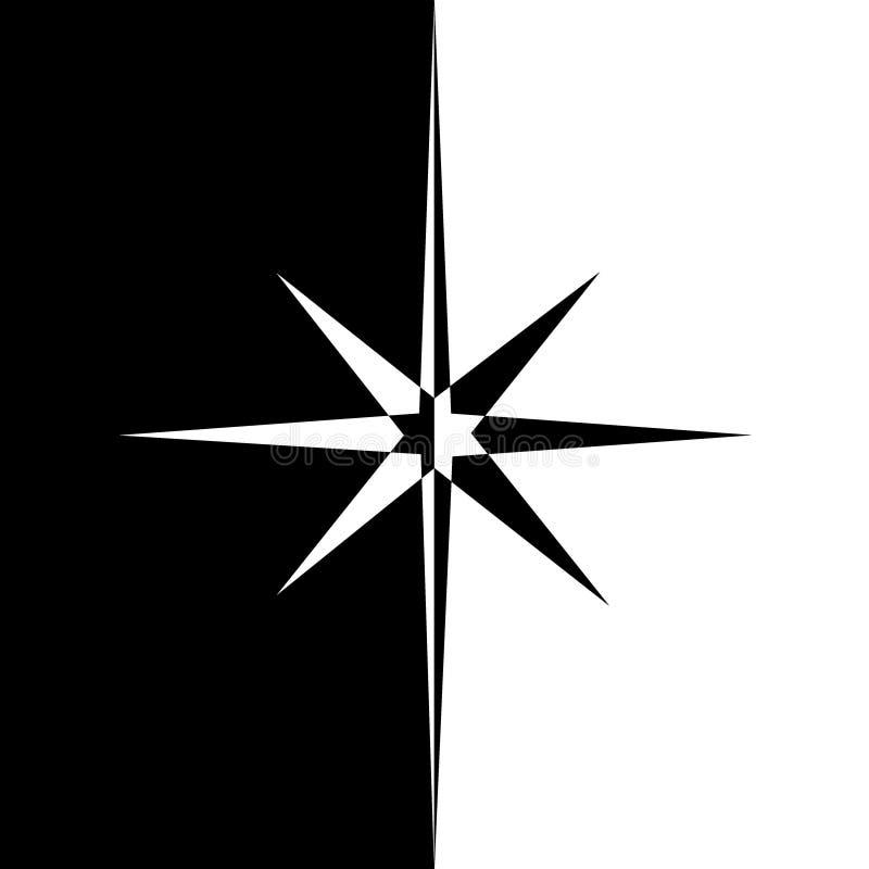 Stella di vettore Retro stella Priorità bassa della stella Stella nera Segno della stella Simbolo della stella Logo della stella  royalty illustrazione gratis