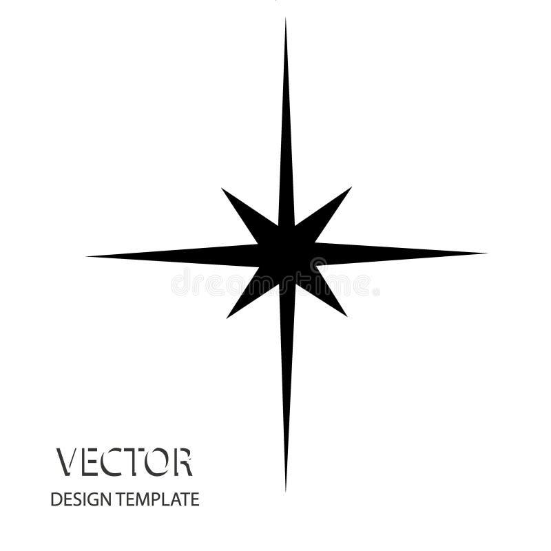 Stella di vettore Retro stella Priorità bassa della stella Stella nera Segno della stella Simbolo della stella Logo della stella  illustrazione di stock