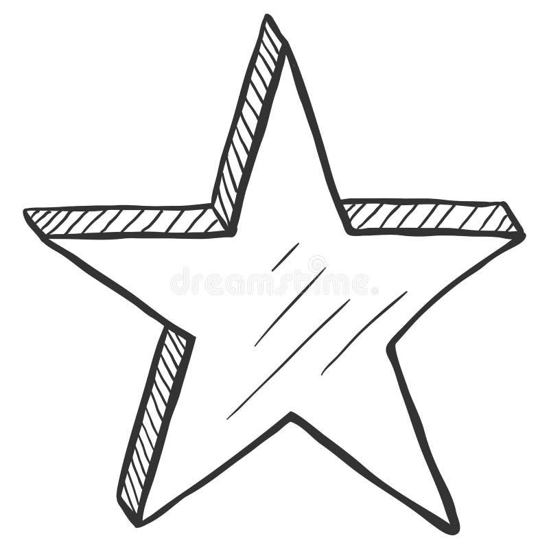 Stella disegnata a mano di schizzo di vettore royalty illustrazione gratis