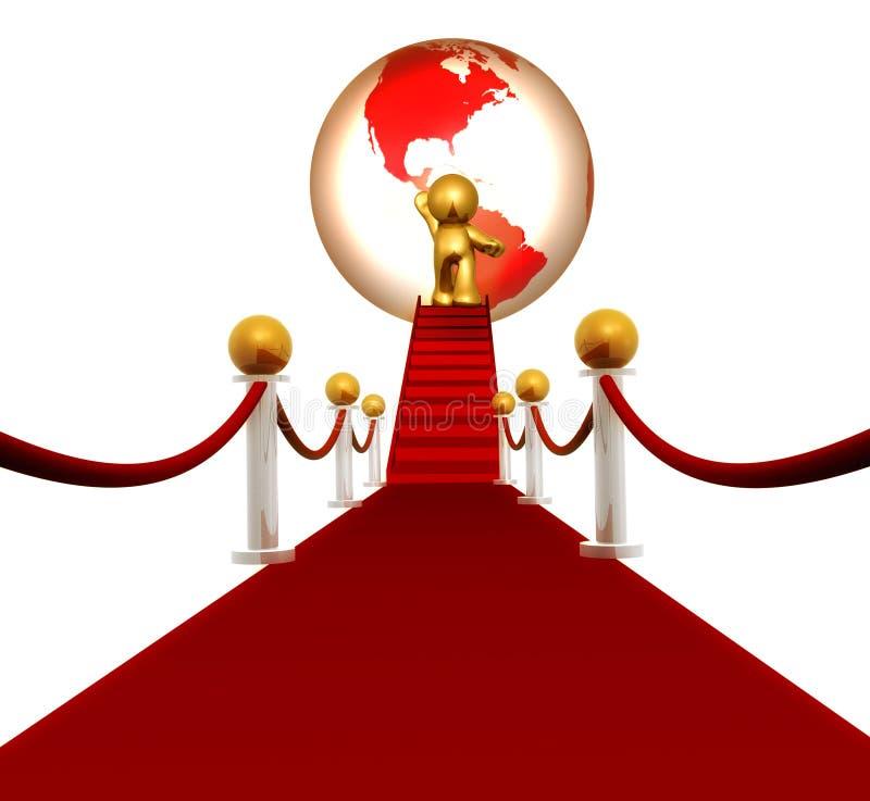 Stella eccellente sul tappeto rosso illustrazione vettoriale
