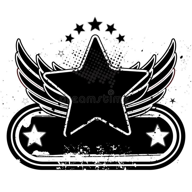 stella ed ali illustrazione vettoriale