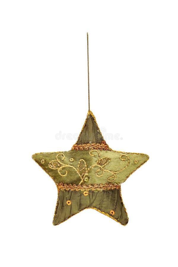 Stella fatta a mano ricamata di Natale immagini stock libere da diritti