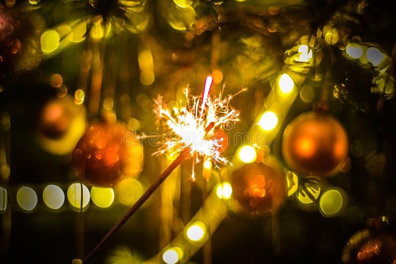 Stella filante del partito del nuovo anno fotografia stock libera da diritti