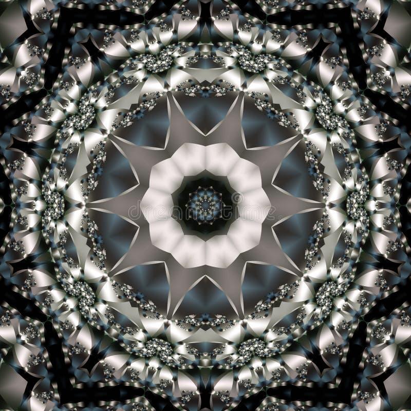 Stella floreale monocromatica illustrazione vettoriale