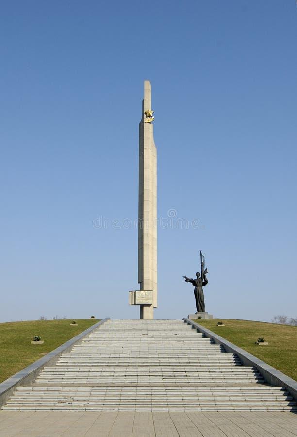Stella of freedom. World War II. Minsk, Belarus stock photography