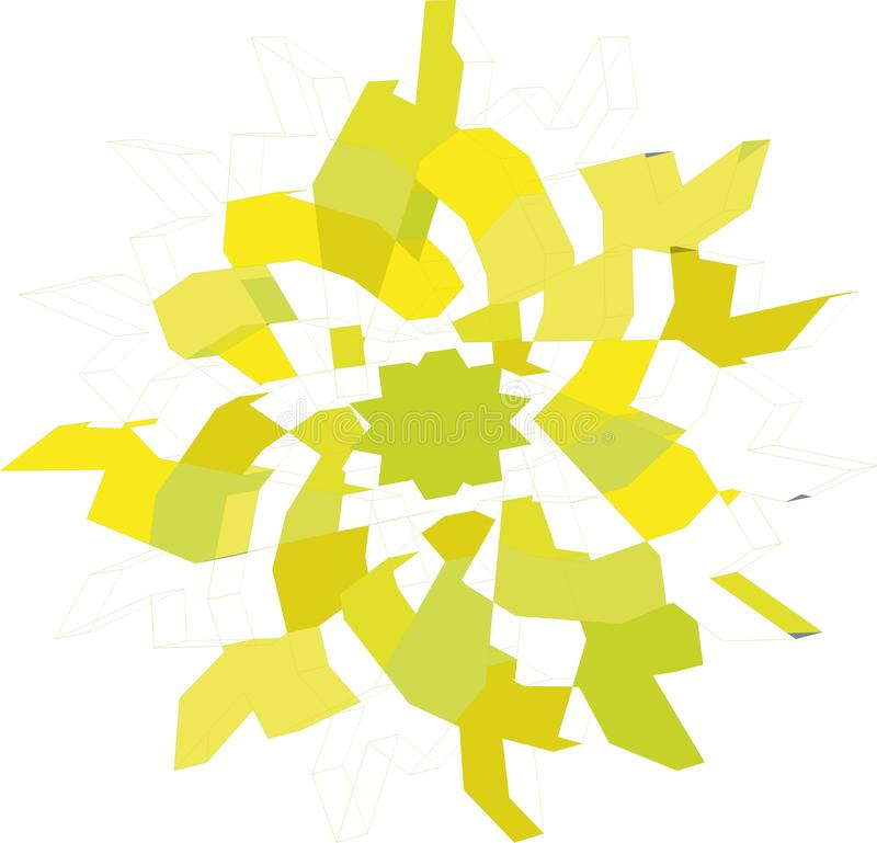 stella gialla angolare complessa illustrazione di stock