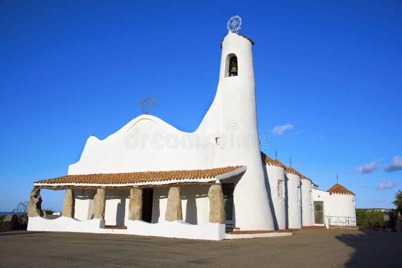 Stella Maris Church en Oporto Cervo, Italia imagenes de archivo
