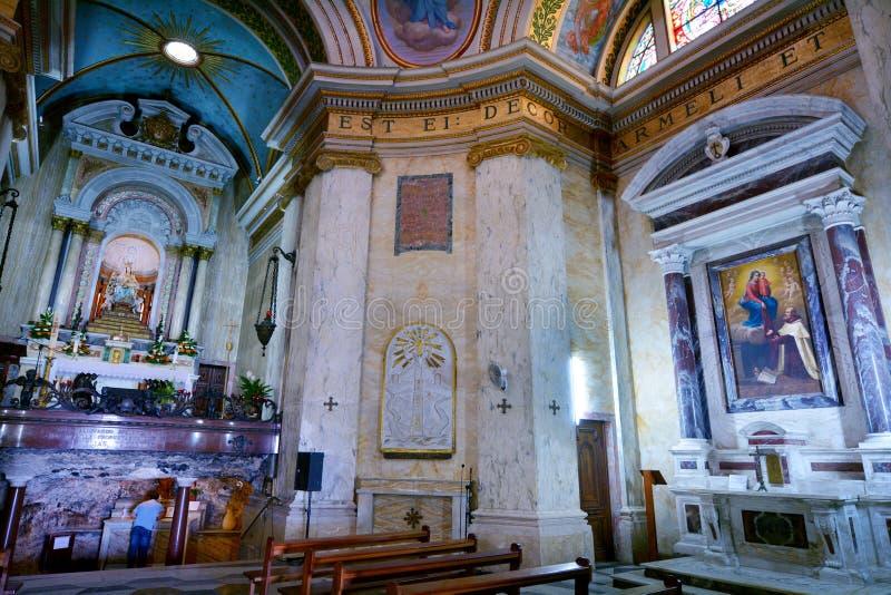 Stella Maris Monastery i Haifa, Israel royaltyfri fotografi