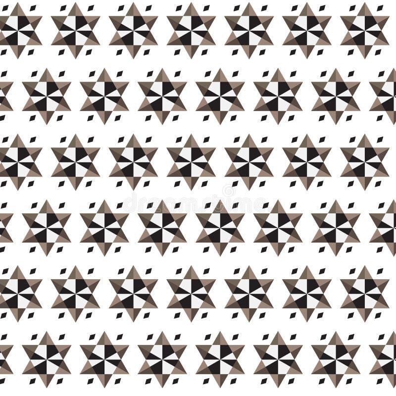 Stella marrone bianca nera con poco BAC del modello a strisce di rettangolo illustrazione vettoriale