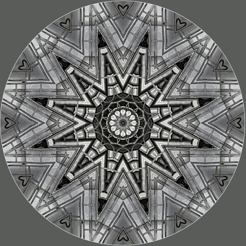 Stella metallica grigia in un cerchio royalty illustrazione gratis
