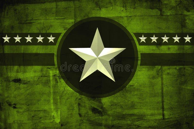 Stella militare dell'esercito sopra il fondo di lerciume illustrazione di stock