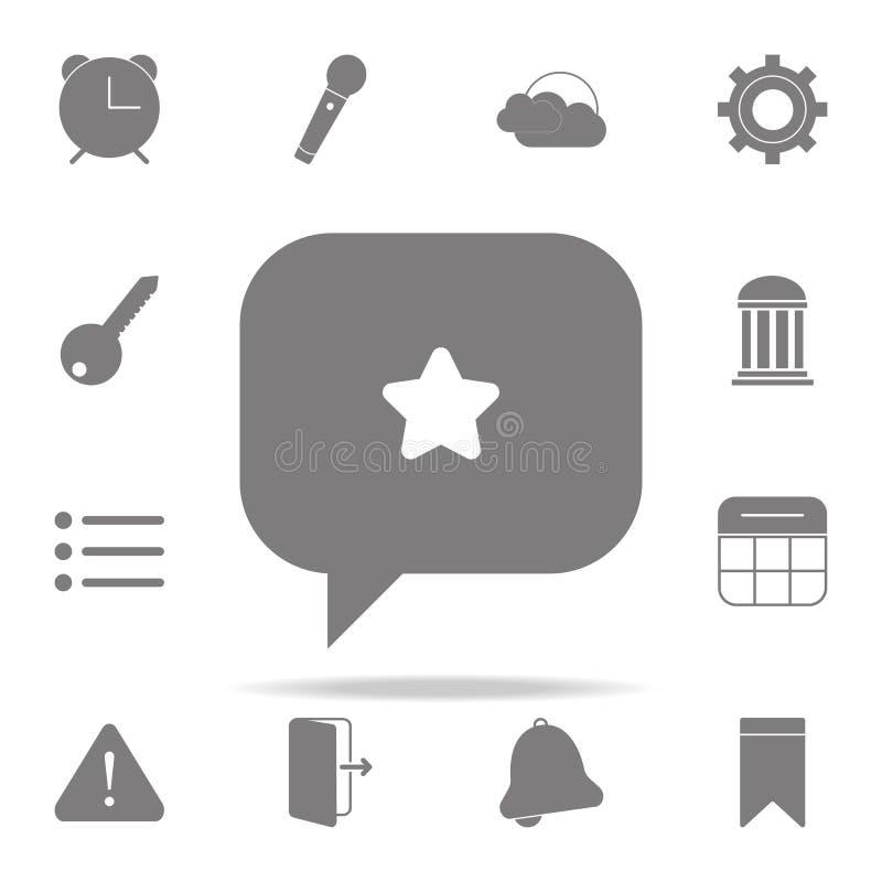 stella nell'icona del messaggio insieme universale delle icone di web per il web ed il cellulare royalty illustrazione gratis