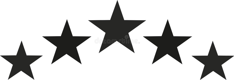 Stella nera messa nella forma del semicerchio illustrazione di stock