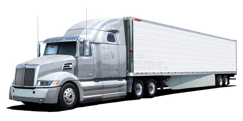 Stella occidentale del camion bianco fotografie stock libere da diritti