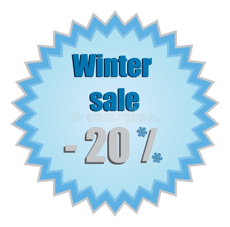 Stella per i prezzi di sconto di inverno illustrazione di stock