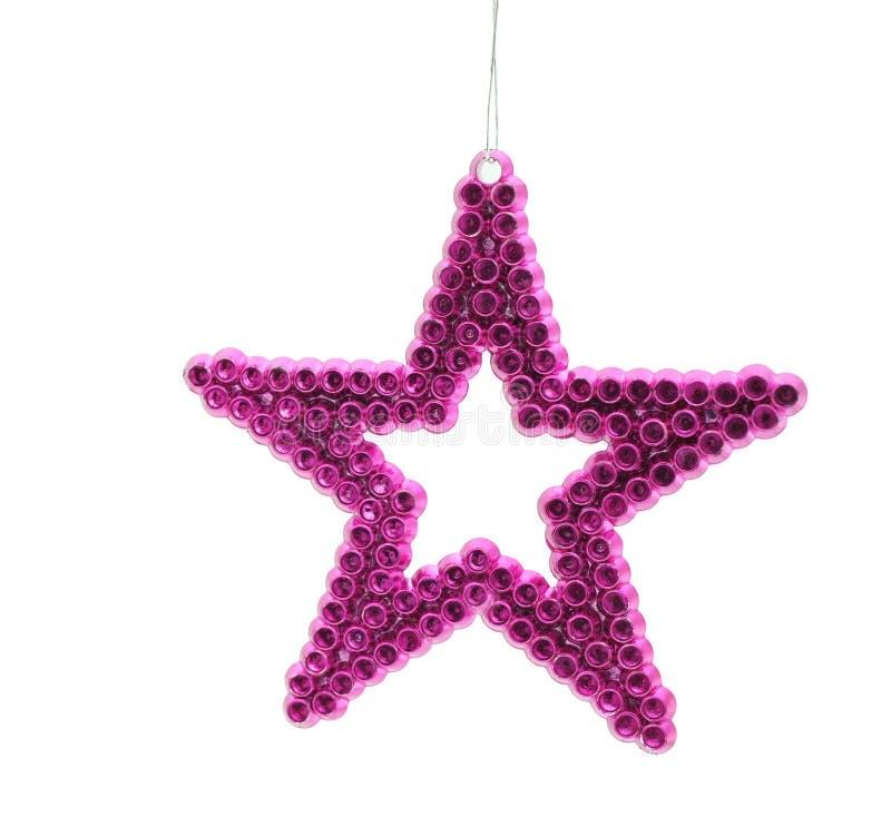 Stella rosa di Natale fotografia stock