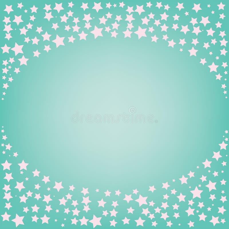 Stella rosa magica astratta con spazio per testo su fondo blu fotografia stock