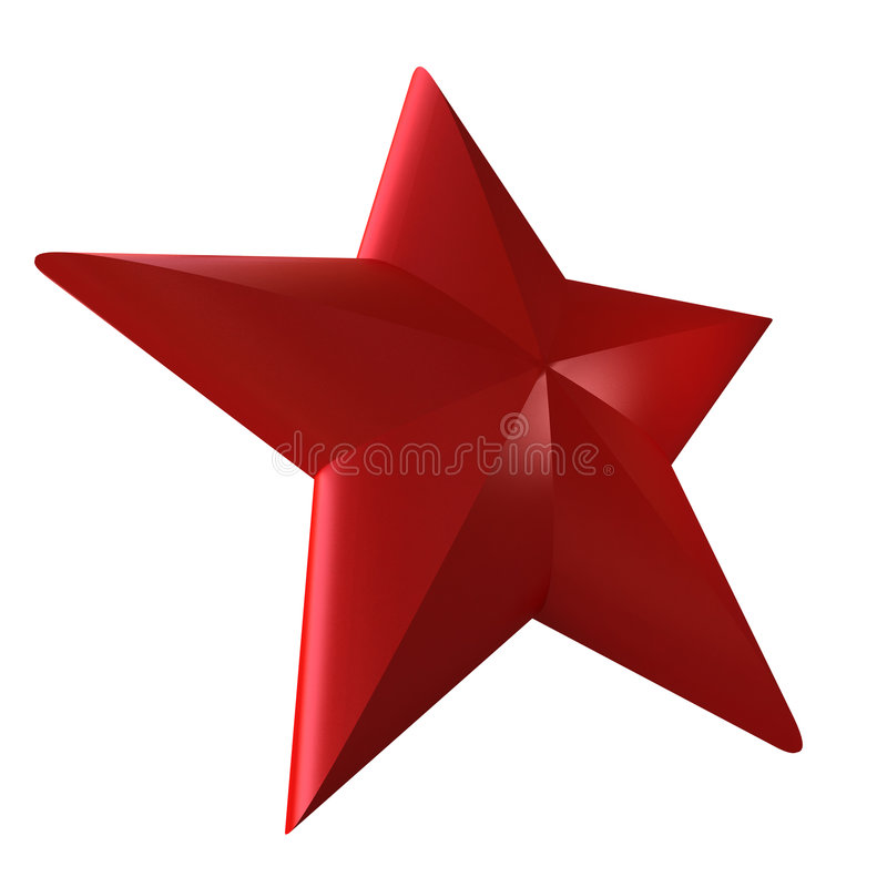 Stella rossa royalty illustrazione gratis