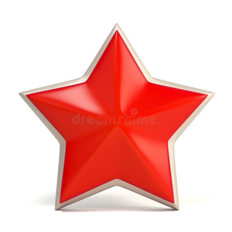 Stella rossa illustrazione di stock