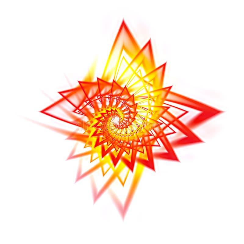Stella rossa di frattalo illustrazione vettoriale
