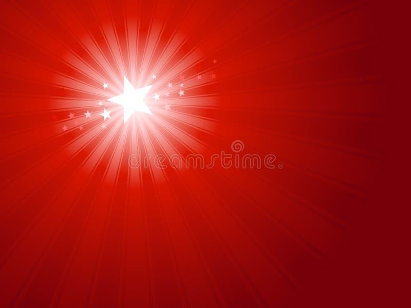 Stella rossa di natale illustrazione di stock