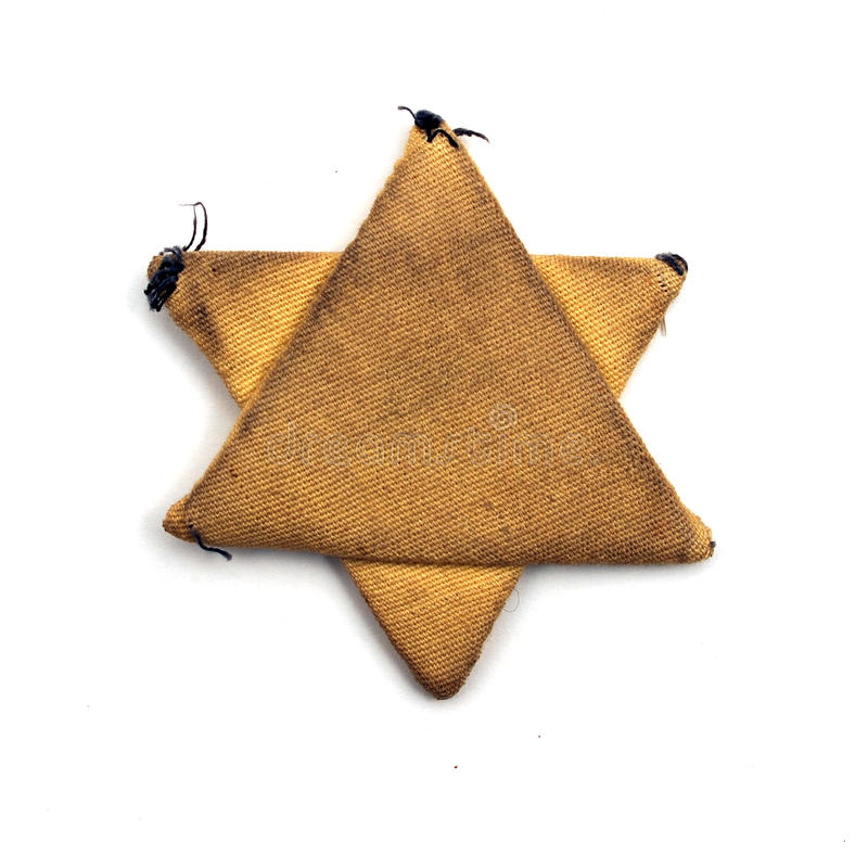 Stella sei-aguzza ebrea del tessuto immagine stock libera da diritti