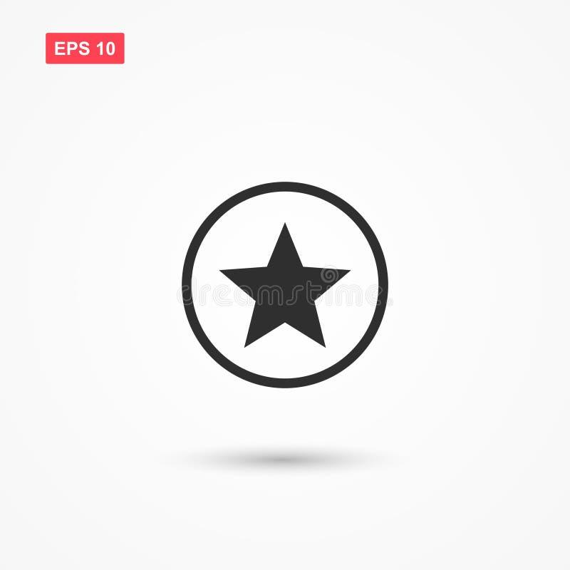 Stella semplice nell'icona del cerchio isolata illustrazione di stock
