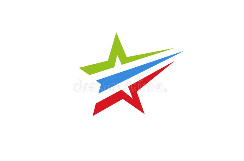 Stella variopinta astratta creativa Logo Design Vector Symbol Illustration illustrazione vettoriale