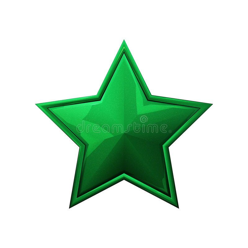 Stella verde illustrazione di stock