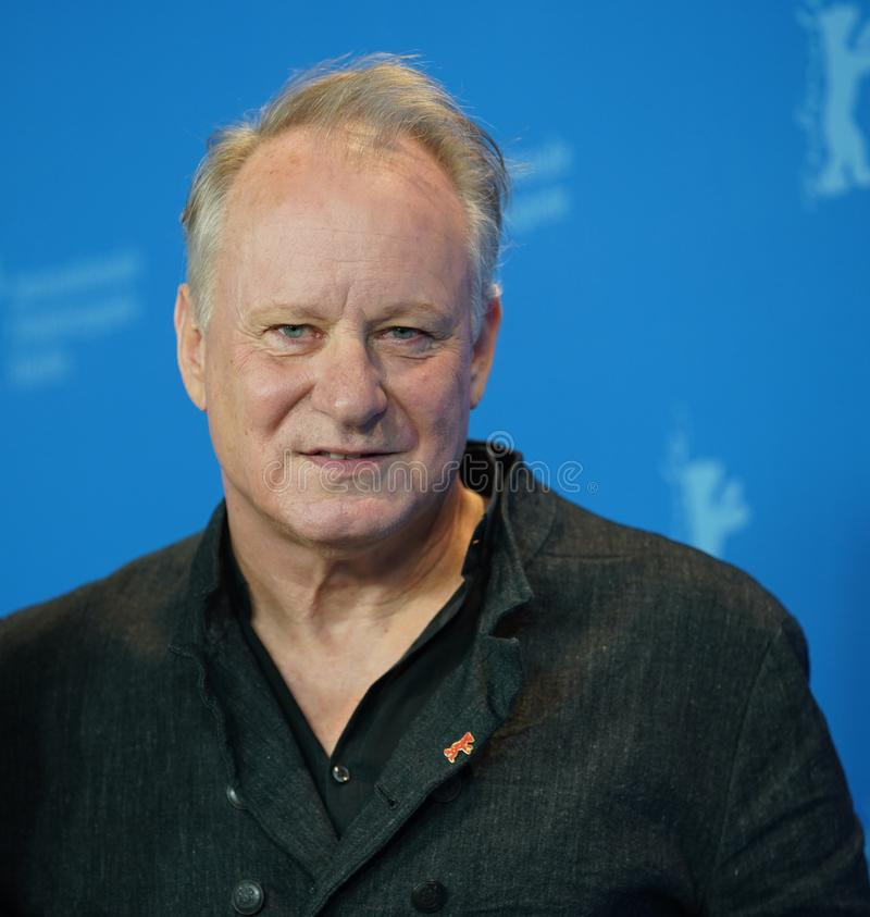 Stellan Skarsgard attends the `Out Stealing Horses. ` Photocall at the 69th Berlinale International Film Festival Berlin on February 9, 2019, in Berlin, Germany royalty free stock photography