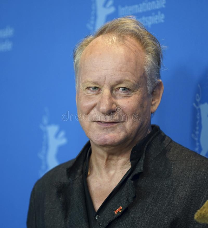 Stellan Skarsgard attends the `Out Stealing Horses. ` Photocall at the 69th Berlinale International Film Festival Berlin on February 9, 2019, in Berlin, Germany royalty free stock photo