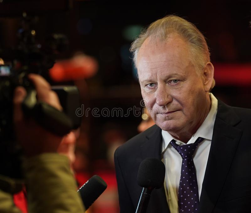 Stellan Skarsgard attends the `Out Stealing Horses. ` Premiere at the 69th Berlinale International Film Festival Berlin on February 9, 2019, in Berlin, Germany stock images