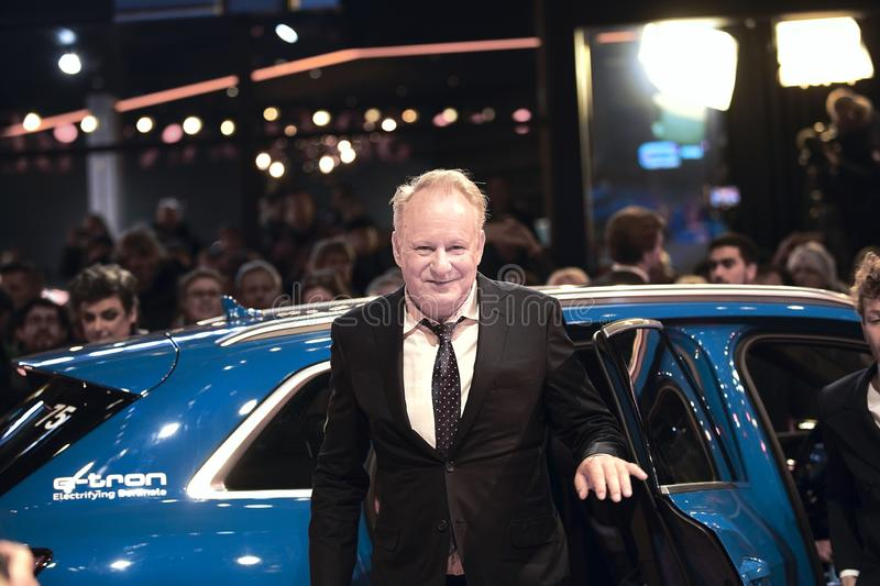 Stellan Skarsgard attends the `Out Stealing Horses`. Premiere at the 69th Berlinale International Film Festival Berlin on February 9, 2019, in Berlin, Germany royalty free stock images