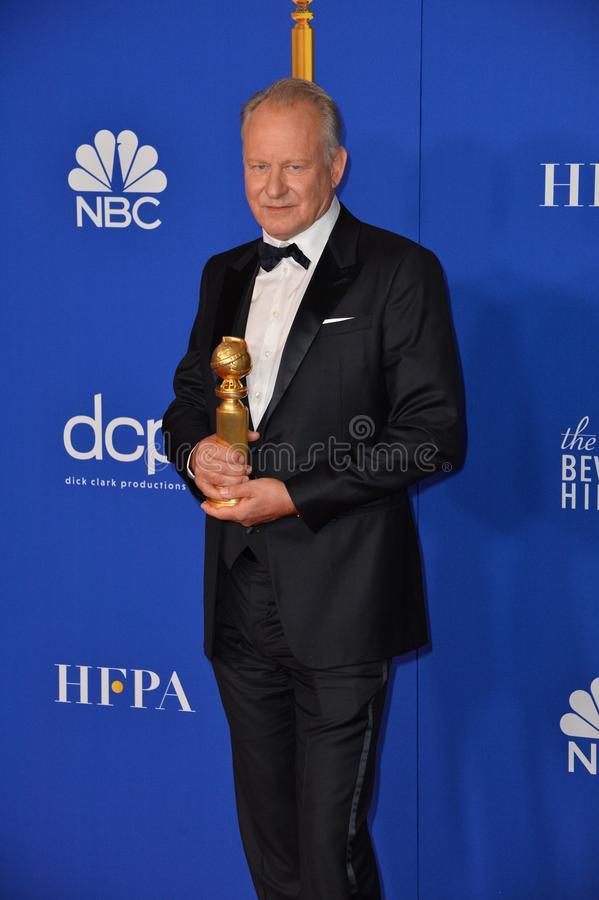 Stellan Skarsgard. LOS ANGELES, USA. January 05, 2020: Stellan Skarsgard in the press room at the 2020 Golden Globe Awards at the Beverly Hilton Hotel..Picture royalty free stock photography