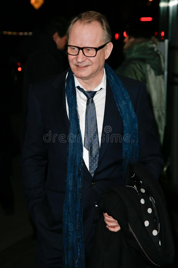 Stellan Skarsgard. NEW YORK-MAR 13: Actor Stellan Skarsgard attends the 'Nymphomaniac: Volume I' screening at The Museum of Modern Art on March 13, 2014 in New royalty free stock images