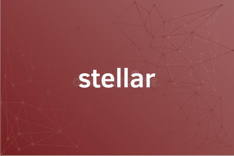 Stellar XLM network illustration royalty free illustration